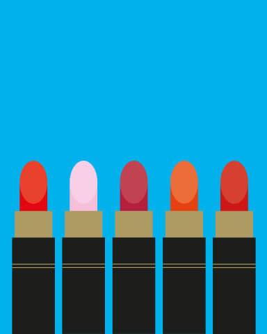 Fünf Lippenstift-Farben sollte jede Frau besitzen.